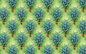 Обои весна, текстура, букетик, 8 марта, арт, фон, незабудки, цветы