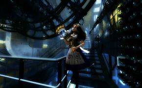 Обои девушка, арт, лестница, portal, Alice Madness Returns, donna666