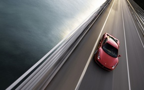 Обои дорога, 458, Ferrari, мост