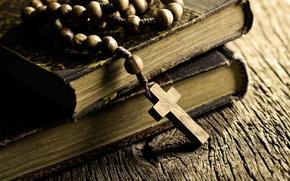 Картинка книги, старые, крест