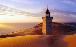 Картинка песок, небо, замок, пустыня