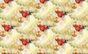 Картинка праздник, шар, Новый год, мишура
