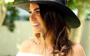 Картинка улыбка, шляпа, актриса, Nikki Reed, Никки Рид