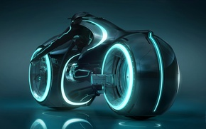 Обои неон, light cycle, tron legacy
