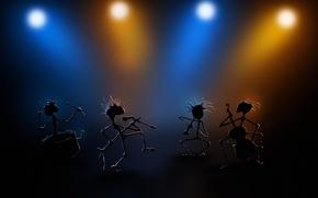 Картинка огни, музыка, сцена, light, band, Группа, stage, performance, представление