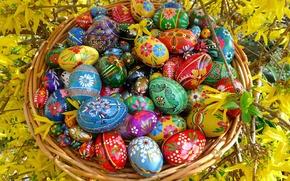 Картинка пасха. яйца, синий, egs, свечи, красный. зелёный