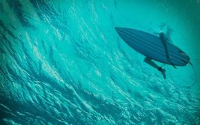 Обои доска, The Shallows, под водой, синева, триллер, девушка, Блейк Лайвли, океан, Blake Lively, серфинг, Отмель, ...