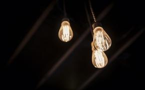 Картинка свет, минимализм, лампочки