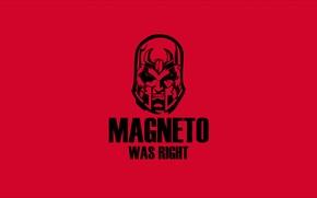 Обои magneto, red, black