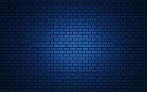 Картинка синий, простой, кирпич, градиент, текстура
