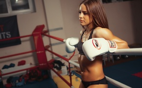 Картинка девушка, спорт, бокс