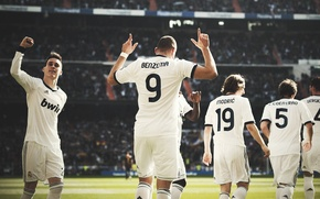 Картинка футбол, real madrid, football, sergio ramos, soccer, karim benzema, modric