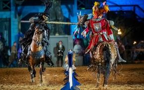 Картинка стиль, скорость, лошади, рыцари, турнир