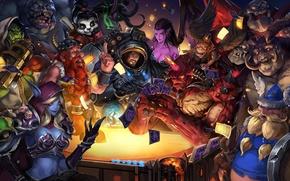 Картинка карты, diablo, warcraft, world of warcraft, Demon Hunter, panda, Butcher, sarah kerrigan, Sylvanas, Illidan Stormrage, ...