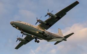 Картинка самолёт, военно-транспортный, советский, AN-12B