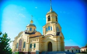 Картинка Церковь, Здание, Храм, Монастырь