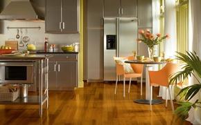 Картинка дизайн, дом, стиль, вилла, интерьер, кухня, жилая комната