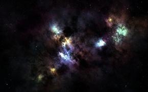Обои звезды, туманность, пространство, созвездие, nebula, бесконечность