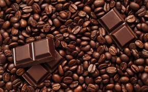Картинка Шоколад, Зерна, Кофе, Еда