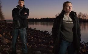 Картинка Убийство, Mireille Enos, Joel Kinnaman, Sarah Linden, The Killing, Stephen Holder