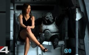 Картинка девушка, ноги, платье, туфли, каблуки, Mass Effect, Volus