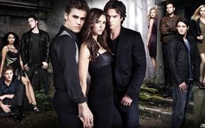 Обои дневники вампира, 2 сезон, все герои