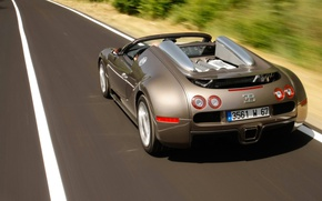 Картинка дорога, Bugatti, veyron