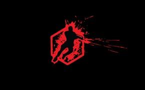 Обои минимализм, кровь, Crysis, лого, Wars