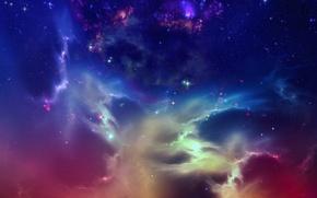 Картинка космос, звезды, star formation, туманность Титан, nebula Titanus