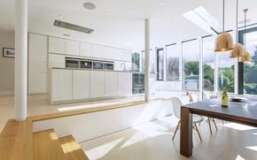 Картинка design, style, interior, villa, kitchen, dining, living space