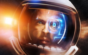 Картинка взгляд, космос, интерфейс, космонавт, фэнтези, арт, шлем, открытый, элементов, оборудование, свечения, astronaut, hardware, communication, частоты, …