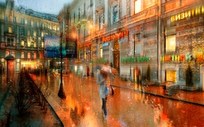 Картинка капли, дождь, Санкт-Петербург