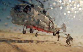 Обои пехота, пустыня, russia, песок, высадка, Морская, marines, ка 27