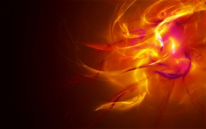 Картинка свет, оранжевый, желтый, абстракция, огонь, цвет, крысный
