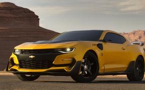 Картинка Transformers, Chevrolet Camaro, Bumblebee, Transformers 5: The Last Knight, Custom Chevrolet Camaro