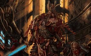 Картинка меч, собор, Warhammer 40k, командир, техник