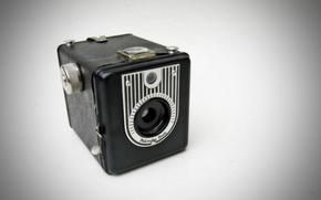 Картинка макро, фон, Handy Box Vintage Camera