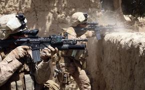 Картинка стрельба, винтовка, Афганистан, вояки, us marine
