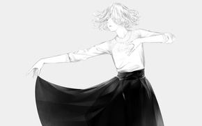 Картинка девушка, танец, арт, Sawasawa