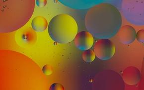 Картинка вода, пузырьки, цвет, масло, жидкость, шарик, воздух, объем