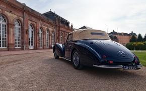 Schwetzingen Palace, ретро, Baden-Württemberg, Germany, Баден-Вюртемберг, Германия, Delahaye, классика, Шветцингенский дворец, 1946 Delahaye 135M Cabriolet