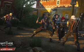 Картинка game, fight, witcher, DLC, The Witcher 3: Wild Hunt, Geralt, Blood and Wine