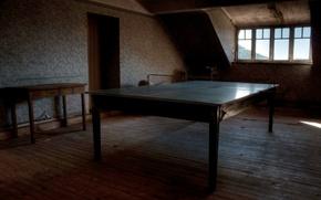 Картинка стол, комната, спорт, интерьер, теннис