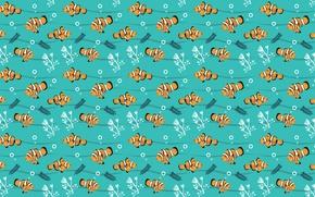 Обои рыбки, водоросли, узор