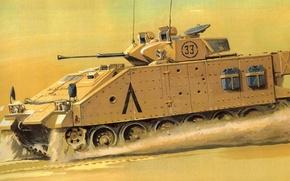 Картинка рисунок, Воин, Warrior, БМП, британская современная боевая машина пехоты, MCV-80, Уорриор