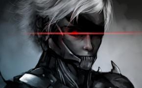 Картинка глаз, арт, повязка, парень, MGS, Metal Gear Solid, Raiden, Rising