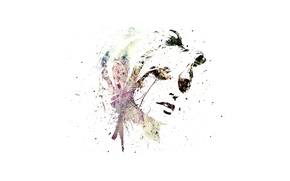Картинка девушка, лицо, минимализм