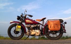Картинка стиль, мотоцикл, байк, легенда, Indian 741