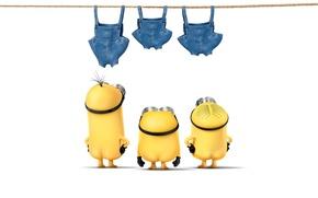 Картинка одежда, желтые, Боб, Стюарт, Кевин, миньоны