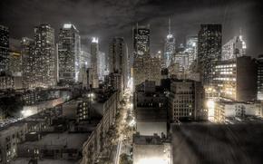 Обои ночь, огни, города